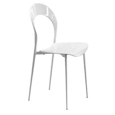 Rider Dining Chair Color: White
