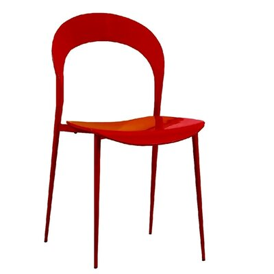 Rider Dining Chair Color: Red