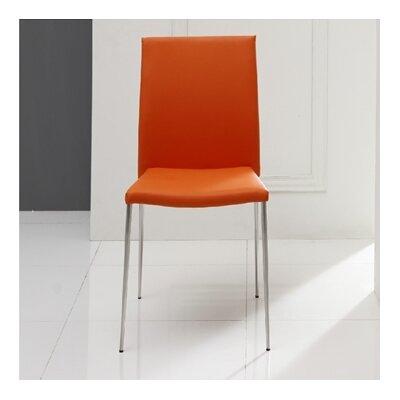 Aldo Side Chair (Set of 2) Upholstery: Orange