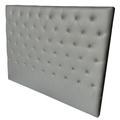 Miles King Panel Headboard Upholstery: Gray