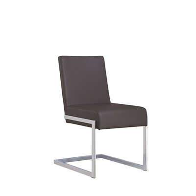 Fontana Dining Chair (Set of 2) Upholstery: Grey Leatherette