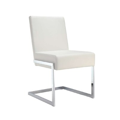 Valentino Upholstered Dining Chair (Set of 2) Color: White
