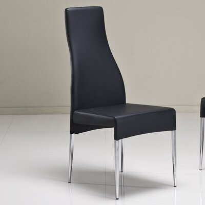 Valentino Dining Chair (Set of 2) Upholstery: Black Leatherette