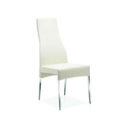 Valentino Dining Chair (Set of 2) Upholstery: White Leatherette