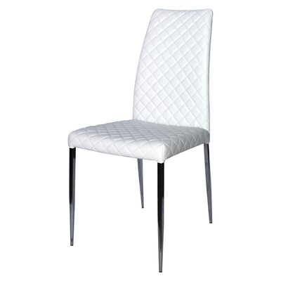 Coco Parsons Chair (Set of 2) Upholstery: White
