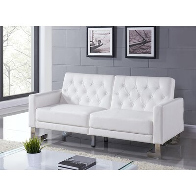 Talenti Casa Convertible Sofa Finish: White PU