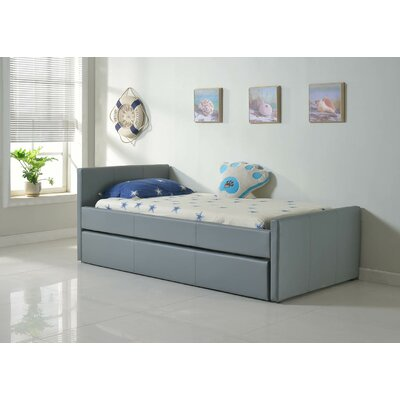 Duetto Upholstered Platform Bed Size: XL Twin, Color: Light Gray