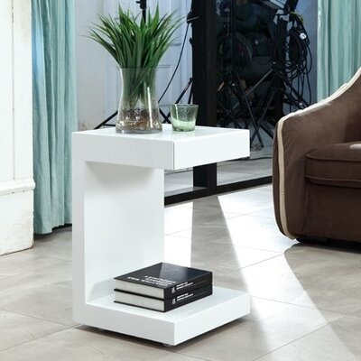 Lino End Table Finish: White