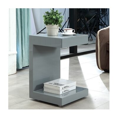 Lino End Table Color: Gray