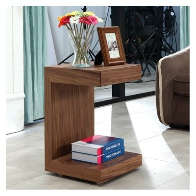 Lino End Table Finish: Walnut