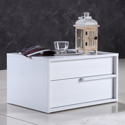 Dolce 2 Drawer Nightstand Color: White