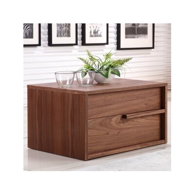Dolce 2 Drawer Nightstand Finish: Walnut