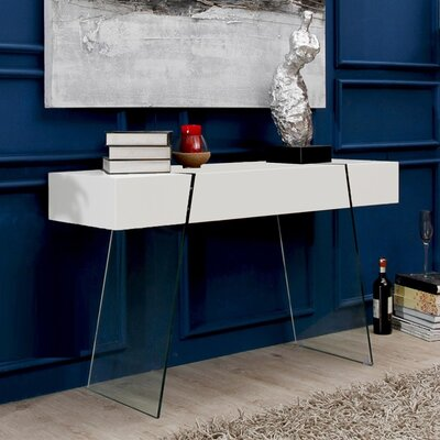 IL Vetro Cabana Console Table Finish: White