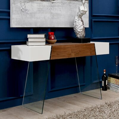 IL Vetro Cabana Console Table Finish: White / Walnut