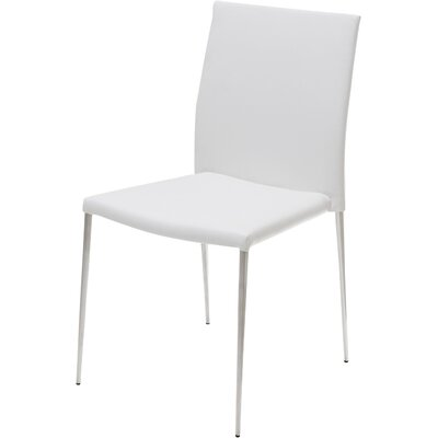 Aldo Side Chair (Set of 2) Upholstery: White