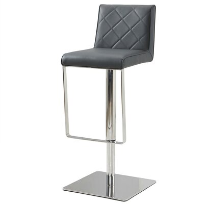Loft Adjustable Height Bar Stool Upholstery: Gray