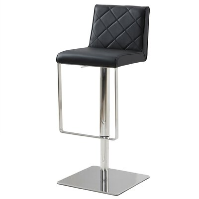 Loft Adjustable Height Bar Stool Upholstery: Black