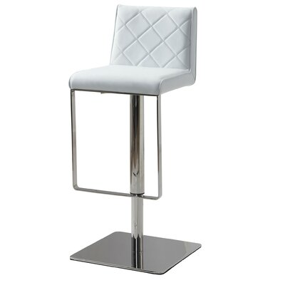 Loft Adjustable Height Bar Stool Upholstery: White