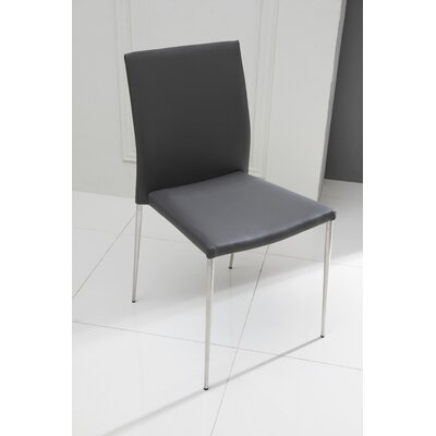 Aldo Side Chair (Set of 2) Upholstery: Dark Gray