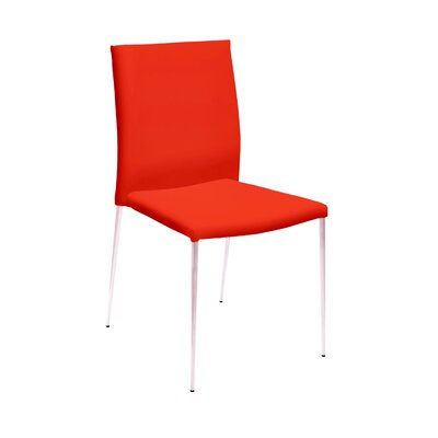 Aldo Side Chair (Set of 2) Upholstery: Orange