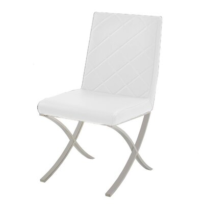 Loft Side Chair Upholstery: White