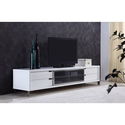 Duke 94 TV Stand Color: White