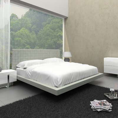 Zack Upholstered Platform Bed Size: Twin, Finish: Light Gray