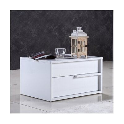 Dolce End Table Finish: White
