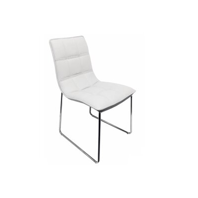 Leandro Dining Chair Upholstery: White