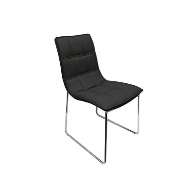 Leandro Dining Chair Upholstery: Black
