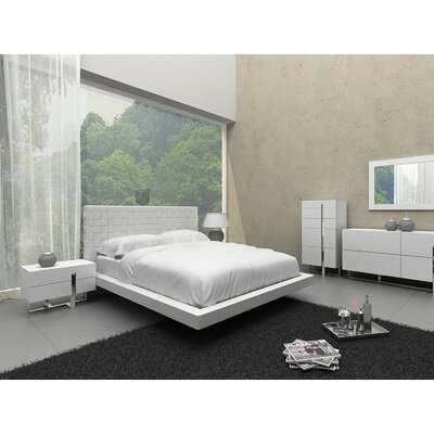 Zack Upholstered Platform Bed Size: King, Color: Light Gray