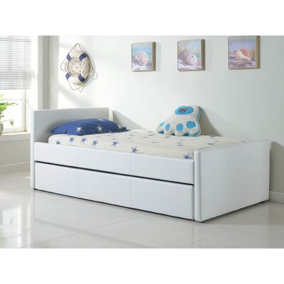 Duetto Upholstered Platform Bed Size: XL Twin, Color: White