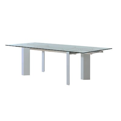 Torino Extendable Dining Table Base Finish: High Gloss White Lacquer