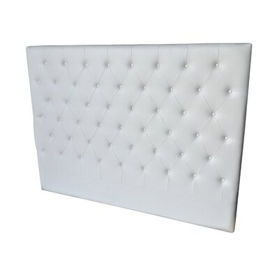 Miles King Panel Headboard Upholstery: White
