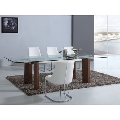 Torino Extendable Dining Table Base Color: Walnut Veneer
