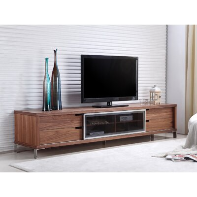 Duke 94 TV Stand Color: Walnut