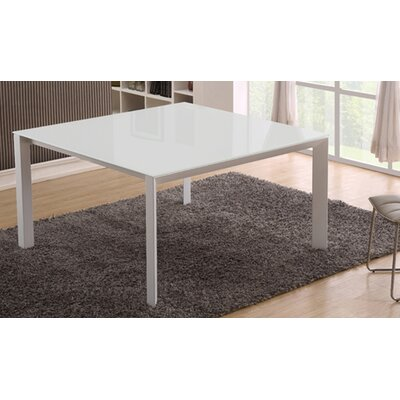 Naples Dining Table Color: White