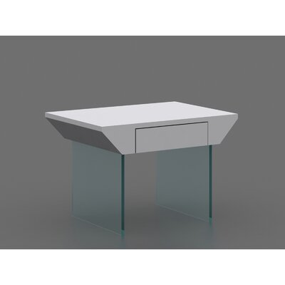Bobadilla End Table with Tempered Glass