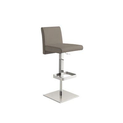 Blakey Adjustable Height Bar Stool Upholstery: Taupe