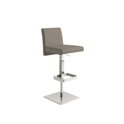 Blakey Adjustable Height Bar Stool Upholstery: Taupe
