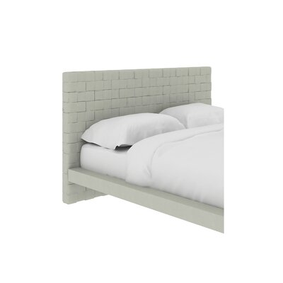 Zack Upholstered Platform Bed Size: Queen, Color: Light Gray