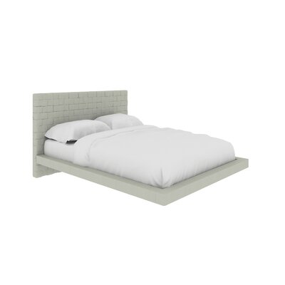 Zack Upholstered Platform Bed Size: Full, Color: Light Gray