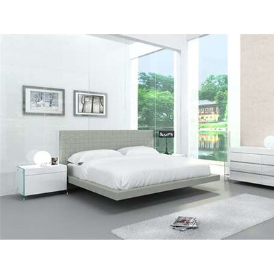 Zack Upholstered Platform Bed Size: Twin, Color: Light Gray