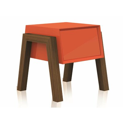 Figo End Table Color: Orange