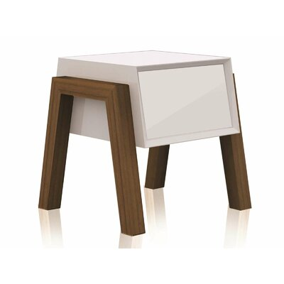 Figo End Table Color: White