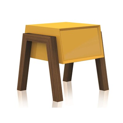Figo End Table Color: Yellow