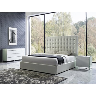 Bella King Upholstered Platform Bed