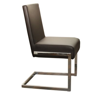 Fontana Dining Chair (Set of 2) Upholstery: Brown Leatherette