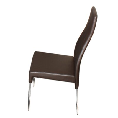 Valentino Upholstered Dining Chair (Set of 2) Color: Brown