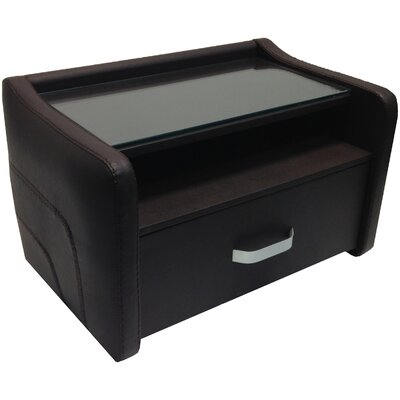 Sole 1 Drawer Nightstand Finish: Brown